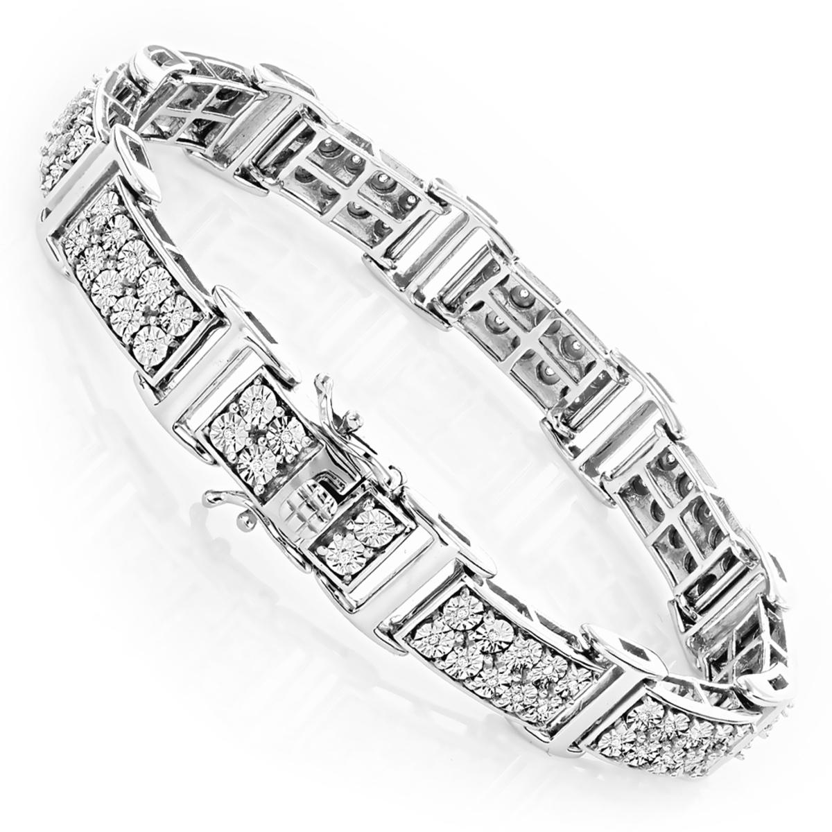 Sterling Silver Diamond Bracelet 0.6ct