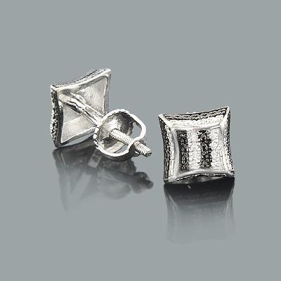 Sterling Silver Diamond Earrings 0.05ct