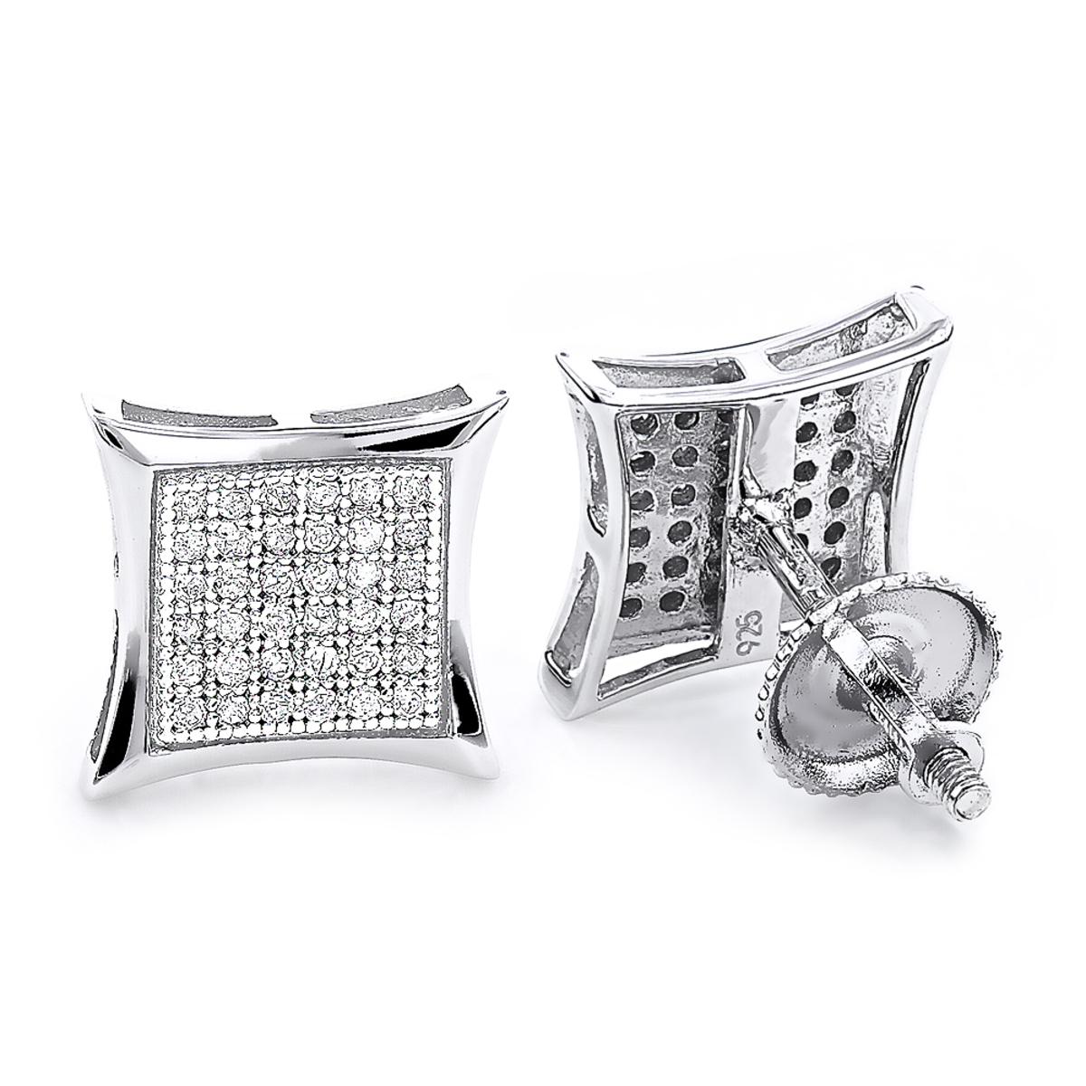 Sterling Silver Diamond Earrings 0.29ct Studs