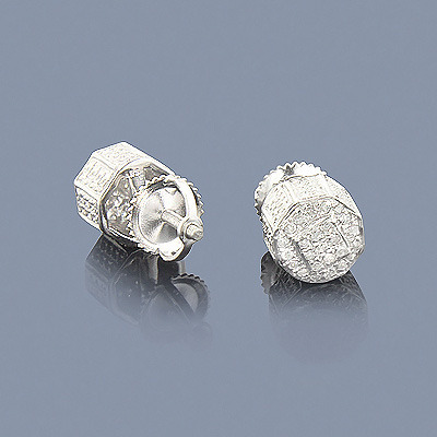 Sterling Silver Diamond Earrings 0.40ct