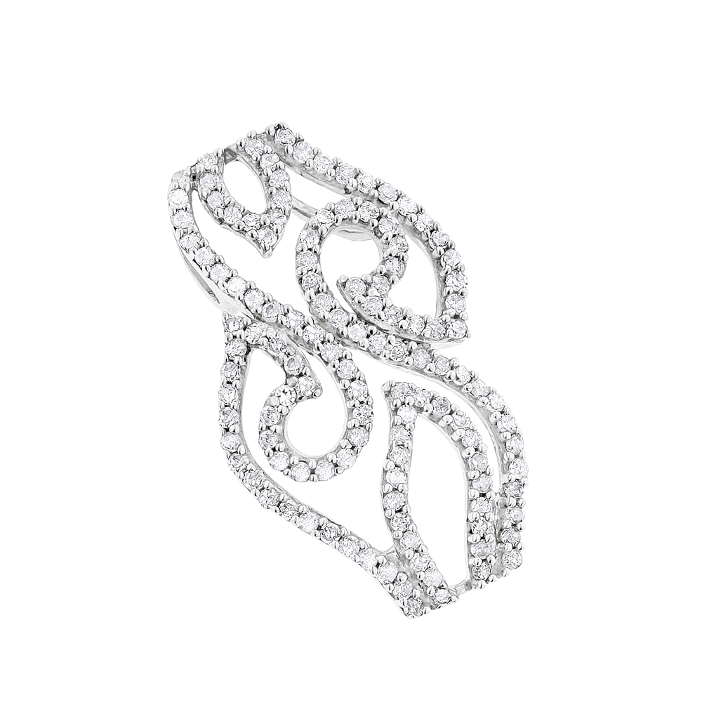 Sterling Silver Diamond Heart Pendant 0.11ct