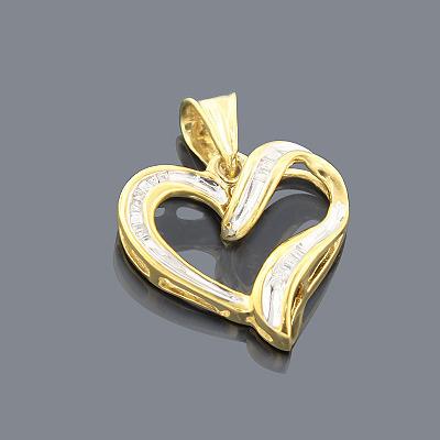 Sterling Silver Diamond Heart Pendant 0.25ct