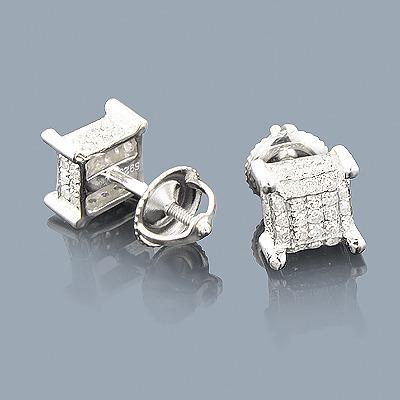 Sterling Silver Diamond Stud Earrings 0.50ct