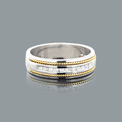 Sterling Silver Ladies Diamond Wedding Band 0.40ct