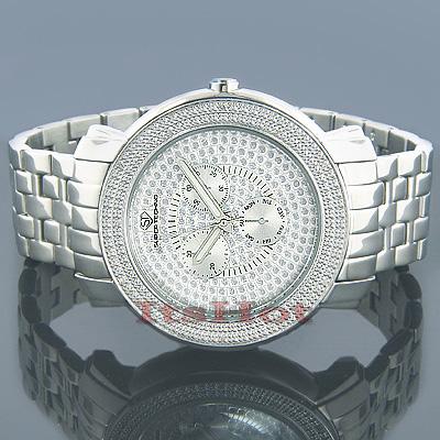 Super Techno Mens Diamond Watch 0.12 ct