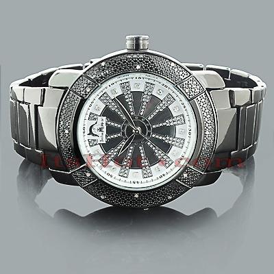 Techno Master Mens Diamond Watch .12ct Black