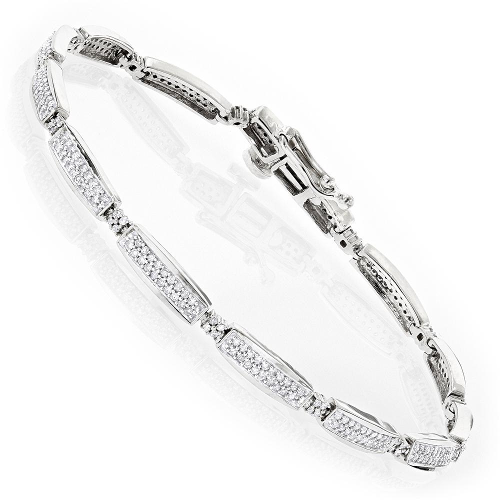Tennis Bracelets 14K Gold Diamond Tennis Bracelet 1.0 ct