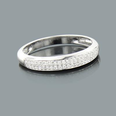 Thin Diamond Wedding Band 0.15ct 14K Gold Ladies Jewelry