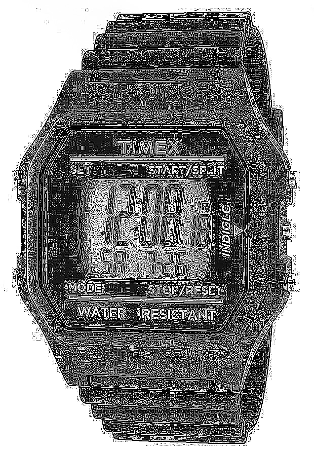 Timex Watches: Multi-Function Grey Digital Dial Black Pluto Rubber 2N244