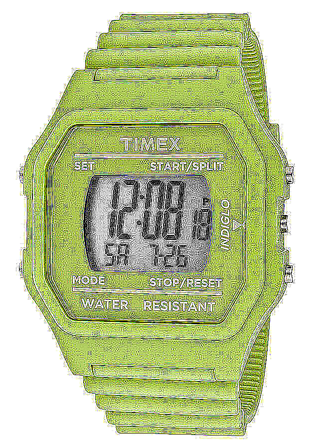 Timex Watches: Multi-Function Grey Digital Dial Green Ers Rubber 2N245