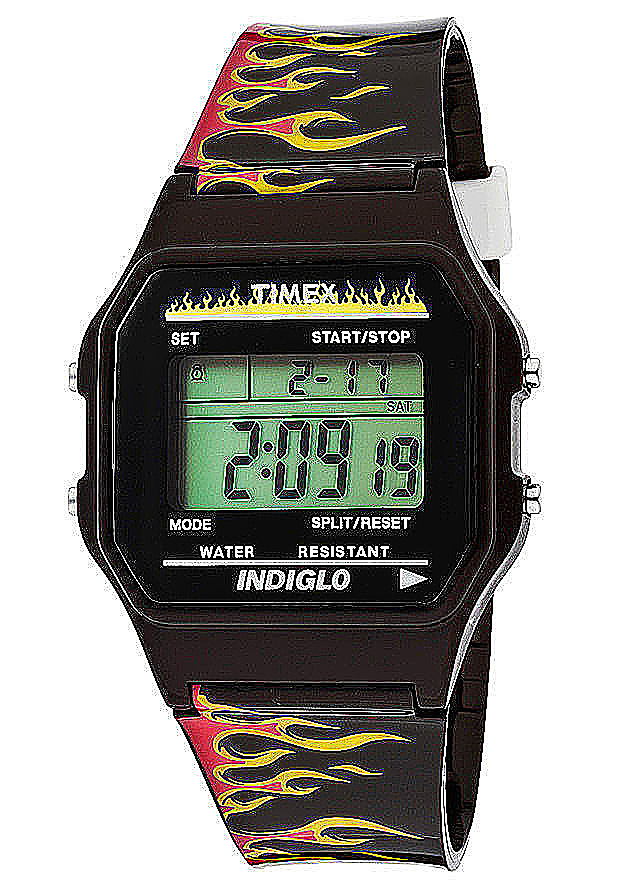 Timex Watches: Women's Multi-Function Grey Digital Dial Black Stoner Rubber 2N584