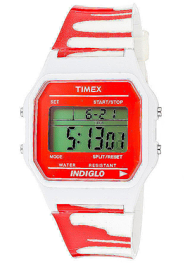 Timex Watches: Women's Multi-Function Grey Digital Dial White Zombie Resin 2N377