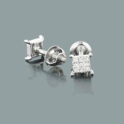 Tiny Diamond Stud Earrings 0.06ct 10K Gold