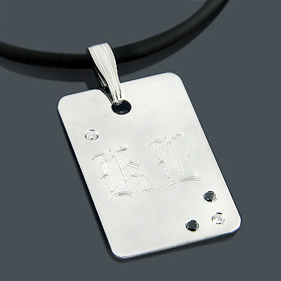 Twilight Jewelry: Kellan Lutz Custom Diamond Dog Tag
