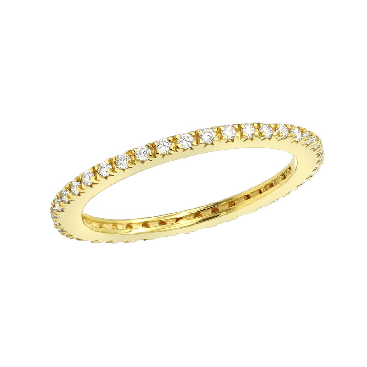 Ultra Thin Diamond Eternity Ring Band 0.18ct 14k White Yellow Rose Gold