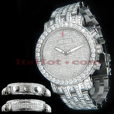 Unique Custom Diamond Benny Co Watch Mens 25ct