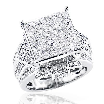 Unique Diamond Engagement Ring 1.96ct 14K Gold