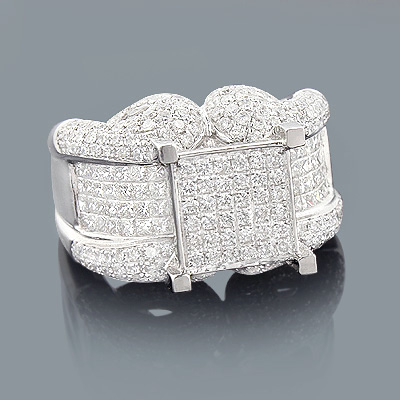 Unique Diamond Engagement Ring 2.88ct 14K