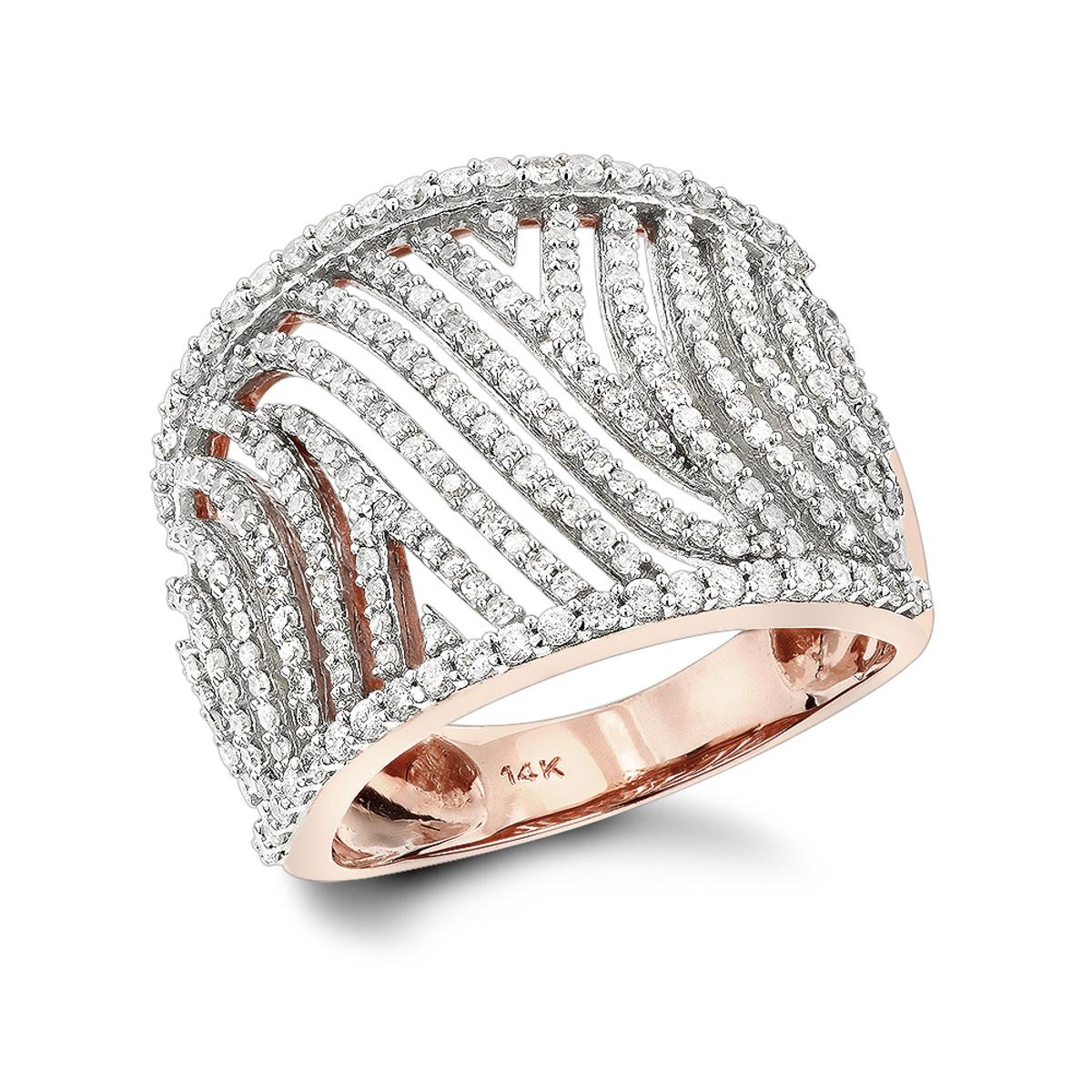 Unique Diamond Rings: 14K Cut-Out Diamond Ring 1ct