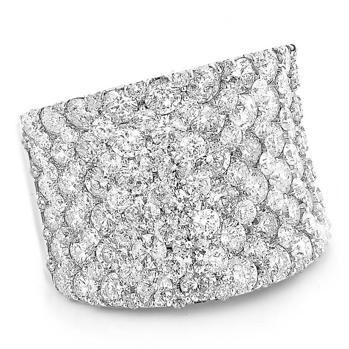 Unique Diamond Wedding Bands: 8 carat Ladies Pave Diamonds Ring 14k Gold