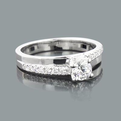 Unique Engagement Ring Settings: Round Diamond Mounting 0.25ct 14K