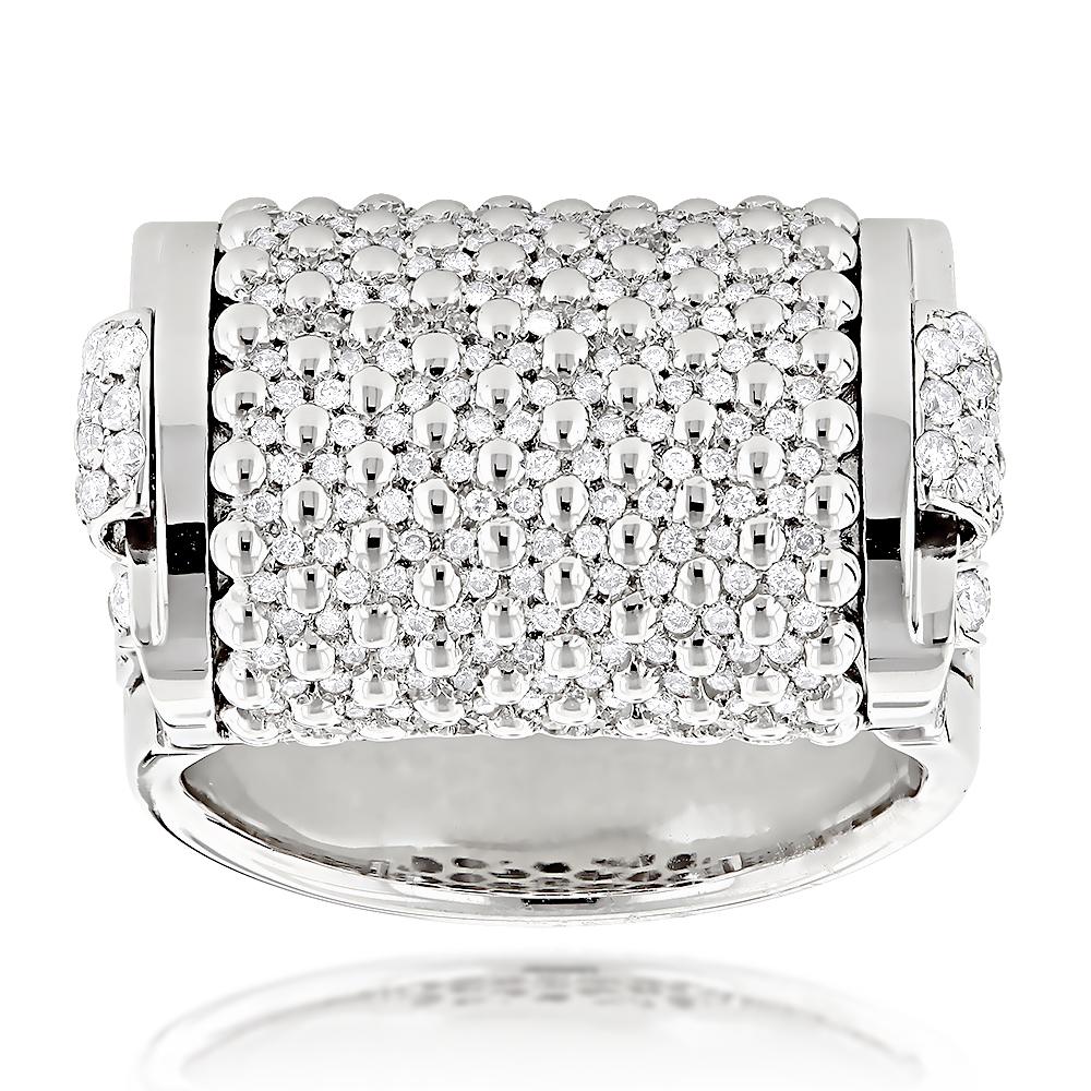 Unique Ladies Diamond Rings 18K Gold Designer Diamond Ring 2.75ct