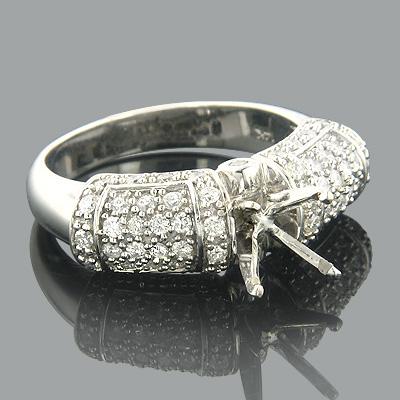 Unique Settings 14K Diamond Engagement Ring Setting .85