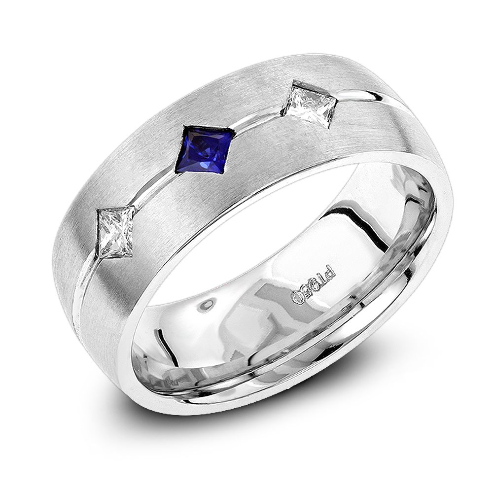 unique wedding bands platinum sapphire diamond wedding