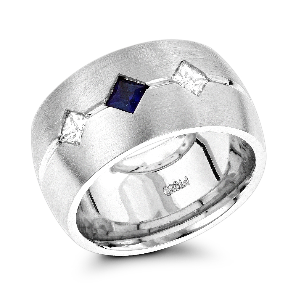 Unique wedding rings platinum diamond sapphire wedding band for women junglespirit