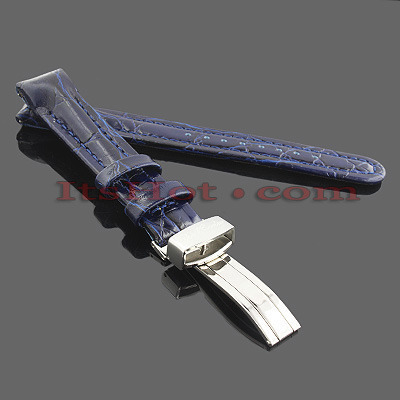 Watch Bands: Joe Rodeo Leather Watch Band 16mm Blue