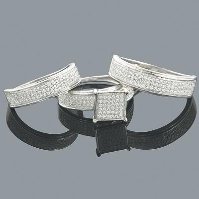 Wedding Ring Sets 14K Diamond Engagement Ring Set 1 Carat