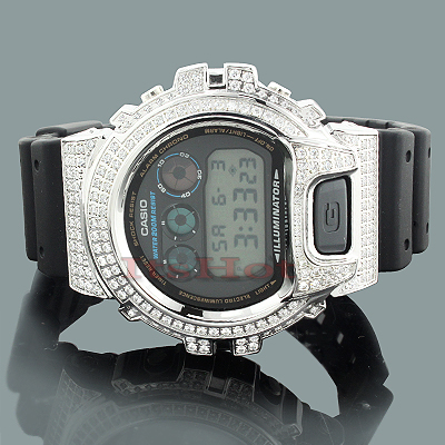 White G-Shock Watches: CZ Crystal Watch 4ct