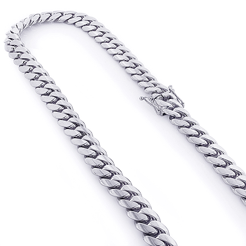 White Gold Miami Cuban Link Colossal Chain 14K  14.5mm 22-40in