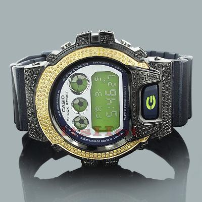 Yellow Black Diamond Watches: Casio G-Shock Diamond Watch 3.75ct