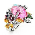 ladies designer gemstone ring