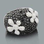 designer diamond flower ring